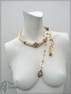"Necklace ""golden harness."" Anna Braginskaya - Beaded Jewelry"