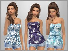 Patterned Peplum Tops by SweetDreamsZzzzz at TSR • Sims 4 Updates