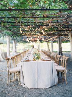 twinkle lights | Outdoor Napa Garden Wedding