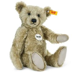 NEW from Steiff - A lovely caramel mohair teddy bear called Camillo. This 32cm bear is fully jointed made from the finest quality caramel mohair and lovely beige paw pads http://www.axistoys.com/New-for-2016?product_id=2230