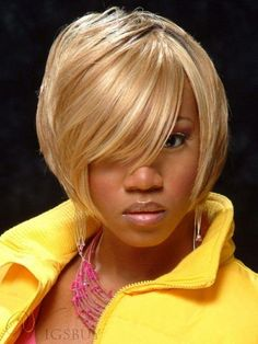 #WigsBuy - #WigsBuy Short Bob Silky Soft Straight Blonde Remy Human Hair Wig 8 Inches for Black Women - AdoreWe.com