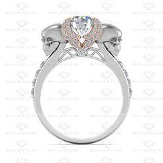 Ailes de L'amour blanco diamante oro por SapphireDesignStudio