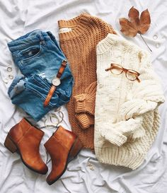 "4,775 Likes, 68 Comments - Olivia • LivvyLand (@livvylandblog) on Instagram: ""Cozy neutral knits!So many adorable sweaters to wear with jeans & ankle booties (one of my…"""