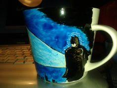 Batman I Cup, Batman, Mugs, Tableware, Handmade, Dinnerware, Hand Made, Tumblers, Tablewares