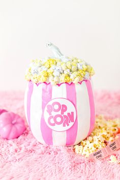 DIY No-Carve Popcorn Pumpkin
