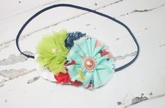 Something to Tweet About - headband in navy blue, salmon pink, red, lime green  - M2M Caroline Kate So Tweet Dress (RTS) by SoTweetDesigns on Etsy