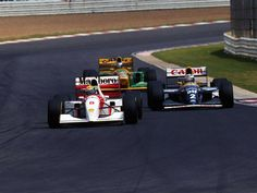 Ayrton Senna, Alain Prost and Michael Schumacher
