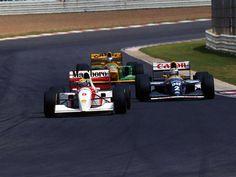 Ayrton Senna, Alain Prost and Michael Schumacher