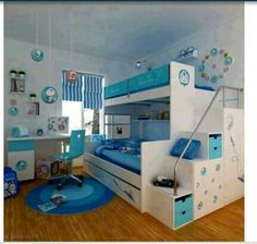 Cool boys room.. love the colors!!!!