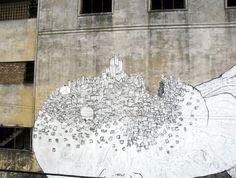 à Buenos Aires. Graffitis géants de BLU