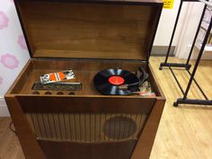 This amazing Marconi radio and gramophone has just come in. This truly is one of a kind!
