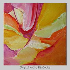Modern Abstract Art Original Contemporary Painting by ElisCooke, $60.00