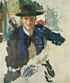 Rik Wouters, Portrait de Rik à la veste de velours noir, 1909