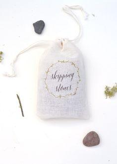 Skipping stones favors: http://www.stylemepretty.com/2015/08/11/smp-blogger-bride-diy-skipping-stone-favor-bags/   DIY: Boxwood Avenue - http://boxwoodavenue.com/