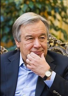 António Guterres, former Portuguese politician who was Prime Minister of Portugal 1995 - served as President of the Socialist International & served as United Nations High Commissioner for Refugees from - United Nations, Politicians, Secretary, Christianity, Presidents, Portugal, Prime Minister, Portuguese