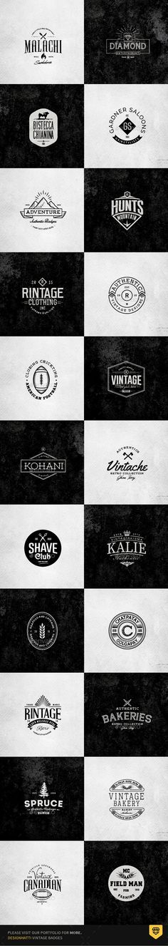 Retro Vintage Minimal Logos Vol.03  #ribbon #psd • Download ➝ https://graphicriver.net/item/retro-vintage-minimal-logos-vol03/18337699?ref=pxcr