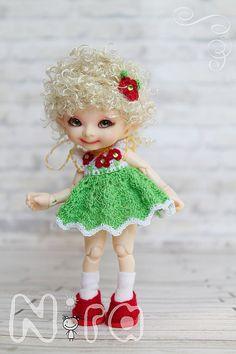 Set for Realpuki crocheted dress decoration on the by NiraDolls