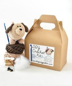 Look at this #zulilyfind! Tan Dog DIY Crochet Kit #zulilyfinds