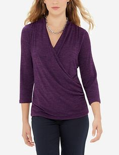 Wrap Look Layering Top from THELIMITED.com