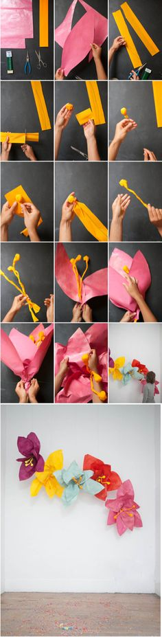 Giant flowers http://ohhappyday.com
