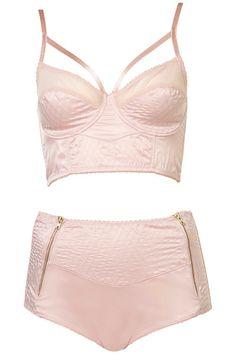 Pretty pink lingerie set from Topshop #TopshopPromQueen