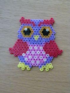 Owl hama beads by Jacky Smith
