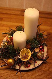 Svietidlá a sviečky - Vianočný svietnik - 4842511_