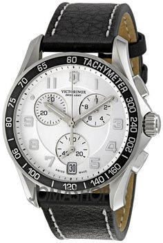 Victorinox Swiss Army Men's 241496 White Dial Chronograph Watch - The House Of The Good Old Classic Watches Plus Armani Watches For Men, Luxury Watches, Army Watches, Cool Watches, Wrist Watches, Citizen Watches, Analog Watches, Victorinox Swiss Army, Army Men
