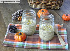 Overnight Pumpkin Oatmeal - this'll be a good use for all the purée hoarded in the freezer