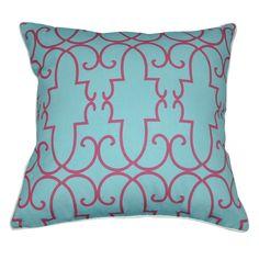 "18"" x 18"" Blue Damask Decorative Pillow P0014-1818P"