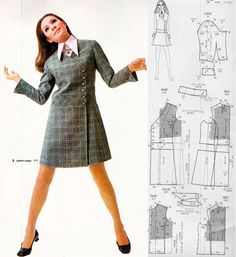 Free Pattern - Dressmaking International Christmas edition Double breasted dress