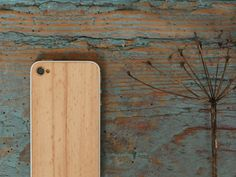 Forget iPhone cases, when you can cover the back of your Apple device with a solid wood veneer designed by Eden. Using beech certified by the Forest Stewardship Council, this backing protects the glass of the iPhone 4 or 4S.  http://zocko.it/LE5UR