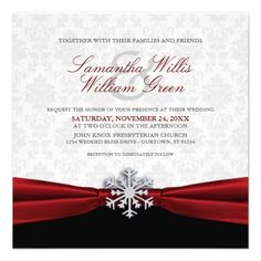 This DealsRed Ribbon Winter Wedding Invitationtoday price drop and special promotion. Get The best buy