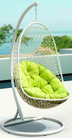 Gently Rock Away For Moments Of Quiet Contemplation With This Swing Chair.  Inspired By The Airy Look Of Outdoor Hammocks, This Chair Adds A Playful  Touch ...