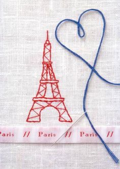 Cute! Sew an Eiffel tower onto any fabric...instant cuteness!