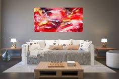 Original Painting on Canvas,Original Abstract Canvas Art,large canvas art,square painting,canvas ori Large Abstract Wall Art, Large Canvas Art, Wall Canvas, Large Art, Modern Oil Painting, Large Painting, Painting Canvas, Texture Painting, Knife Painting