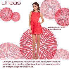 La mujer guerrera viste de rojo. #Lineas #outfit #moda #tendencias #2014 #ropa #prendas #estilo #primavera #outfit #vestido #rojo