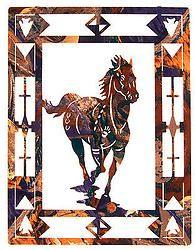 Horse Escape Laser Cut Metal Southwest Wall Art