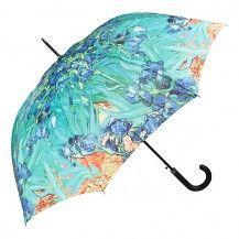 "Von Lilienfeld Fine Art Automatic Walking Umbrella - Van Gogh ""Irises"""