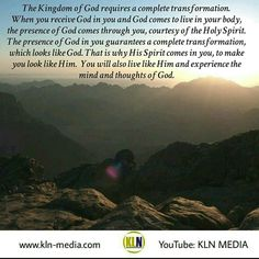 "Kingdom Living Now  Join the conversation with us on YouTube:KLN MEDIA.  Genesis 1:26 NKJV Then God said, Let Us make man in Our image, according to Our likeness; let them have dominion over the fish of the sea, over the birds of the air, and over the cattle, over all the earth and over every creeping thing that creeps on the earth.  John 3:5-6 NKJV Jesus answered, ""Most assuredly, I say to you, unless one is born of water and the Spirit, he cannot enter the kingdom of God.  That which is…"
