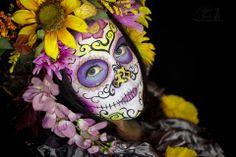 Hope Shots Photography Artist Unique Irish Model Amy D. Sugar Skull Face painting