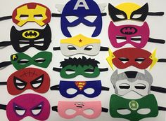 superhero mask felt superhero masks superman by SuperRobertDesign