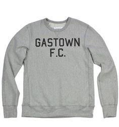 Gastown F.C. sweatshirt. Love it! (inventory stockroom, Gastown, Vancouver, BC)