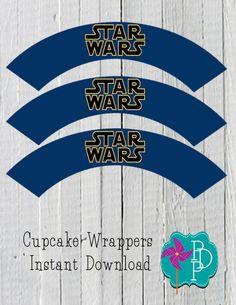 Star Wars Cupcake Wrapper Printable instant by PolkaDotPinwheel