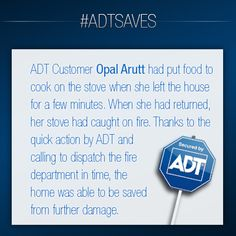 #ADT Customer Opal Arutt's story. #ADTSaves #AlwaysThere