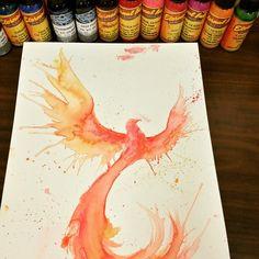 Matt mckelvey on instagram starting this watercolor phoenix today phoenixtattoo tattoo watercolortattoo eternalink lizcookseries fusionink veganink original