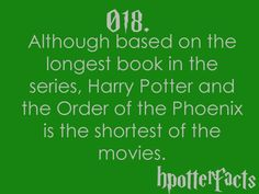 I have never watched the harry potter movies, but I thought this was just interesting