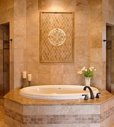 Master Bath Tub and Shower area - traditional - bathroom - houston - by Karen Davis Design