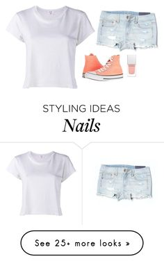 """Untitled #1300"" by yurithisandthat on Polyvore featuring RE/DONE, American Eagle Outfitters and Converse"