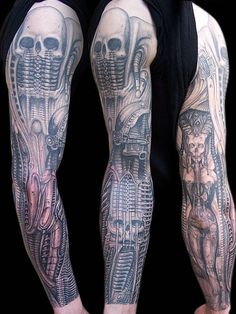 Tattoos of Artwork by H.R. Giger | Inked Magazine